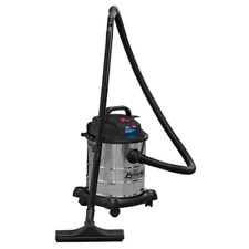More details for pc195sd sealey vacuum cleaner wet & dry 20ltr 1250w stainless drum