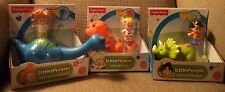 Fisher Price Little People Dinosaurs T-Rex Triceratop 00004000 S Brontosaurus W/ Friends