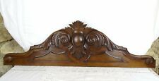 "35"" Antique French Solid Walnut Carved Wood Pediment Crest Fronton"