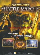 "Warhammer Battle March ""Deep Silver"" 2008 Magazine Advert #4539"