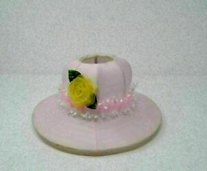 Pink Victorian hat lamp shade Uno fitting