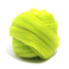 50g teint laine mérinos top willow vert foncé dreads 64/'s spinning feutrage roving