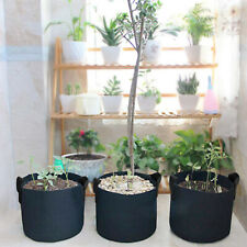 5 Pack Grow Bags Fabric Pots Root Pouch W/ Handles Planting Container, 10 Gallon