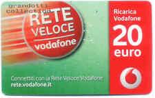 RETE VELOCE RICARICA VODAFONE 20.00 EURO USATA