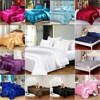 800 TC Soft Satin Silk Bedding Scala Brand Hotel Collection Duvet/Sheet/Pillow