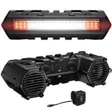 "NEW Boss Audio 8"" ATV Bluetooth Sound System with Dual LED Light Bar ATVB95LED"