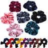 Velvet Scrunchies Women Girls Elastic Hair Rubber Bands Bunny Ear Hair Tie Rope