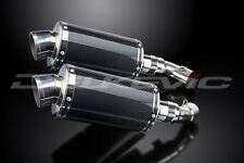 """Delkevic 9"""" Carbon Fiber Oval DS70 Mufflers - Ducati Monster 796 - 10-14 Exhaust"""