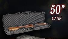 Tsa Approved Double Carry Rifle Hard Case Foam Pad Sports 2 Gun Storage Lock Box