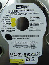 400 GB WD WD4001ABYS-01YNA0 / HHRCHT2CHB / JAN 2008 / 2060-701477-002 REV A