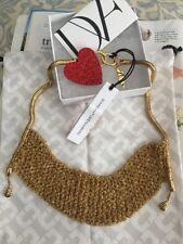 """Diane von Furstenberg necklace 19"""" Long 18K Gold-Plated NEW$498"""
