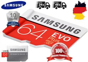 Samsung Evo Plus 64GB (2021) Micro SD XC Speicherkarte Class10 UHS-I mit Adapter
