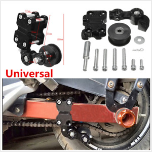 1pcs Aluminum Adjuster Chain Tensioner Motorcycle Accessories Roller Tool Black