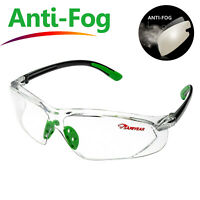 Safeyear Safety Glasses Work Goggles Anti-Fog Anti-UV Clear Lens Head Strap Z87+