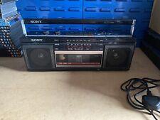More details for sony cfs-230l vintage ghetto blaster 1980s cassette radio boom box