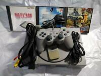 Sony First PlayStation console Bundle + Accessories + 4 games set PS1 from Japan
