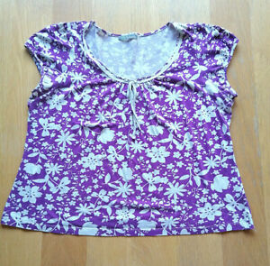 Lilac Floral Blouse by M&S - Size: 22