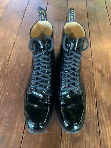Baxter Military Ceremonial Patent Boots size 9.5 - Black - LIGHT WEAR -