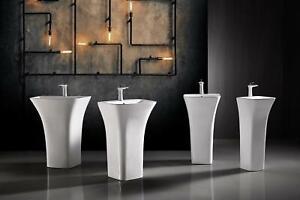 Evolve Concealed Pedestal Washbasin W:450 x D:435 x H:835