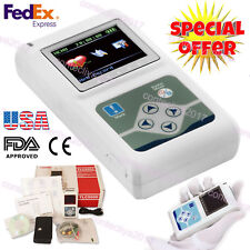 12 Channel 24 Hours Dynamic ECG EKG Holter Analyzer Recorder Free Software,USA