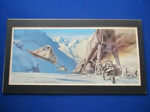 Star Wars - Ralph McQuarrie :  vintage hand signed 'Empire Strikes Back ' Print.