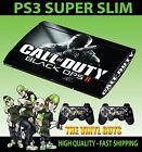 PLAYSTATION PS3 SUPER SLIM COD BLACK OPS 2 CALL OF DUTY SKIN STICKER + PAD SKIN