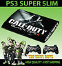 Playstation PS3 SUPER SLIM Bacalao Black Ops 2 CALL OF DUTY Piel Pegatina + Pad