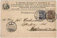 Vordruck-Werbekarte Fa. Nitsche, Dresden-A. von 1901