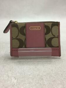 COACH  Pnk Canvas Pink Fashion Card case 648 From Japan