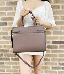 Kate Spade Staci Medium Saffiano Leather Top Zip Satchel Bag Dusk Cityscape