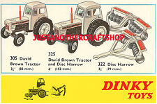 Dinky Toys 305 325 322 David Brown Tractor A3 Size Poster Advert Leaflet Sign