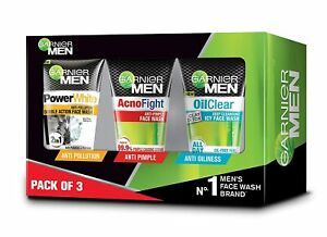 Garnier Men Face Wash Combo Pack Of 3 100g Each ( Free Shipping )