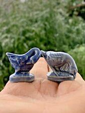 Wade Porcelain Blue Danube Goose & Gander Preen & Eating Set England Made ��m9