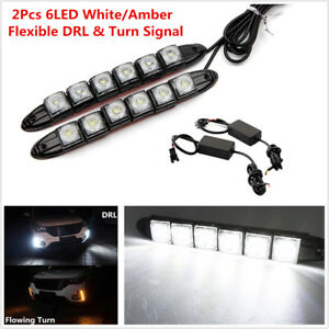 Car Flexible Switchback LED Knight Rider Strip Light DRL Sequential Turn Signal