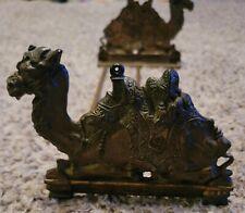 ! Antique Victorian Nouveau Judd Desert Camel Cast Iron Bookends Holder Vintage!