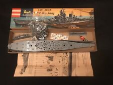 Vintage 1955 Revell 62 Battleship U.S.S. New Jersey Model Kit H-316:198