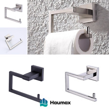 Haumax Stainless Steel Toilet Roll Holder Square Wc Wall Holder Klo-Rollenhalter