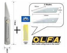 OLFA L-Type Craft Knife Kiridashi knife 34B Stainless + XB34 2 spare blade