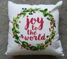 "new Christmas throw pillow ""Joy to the World"" 12"" x 12"""