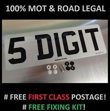 SHORT 5 DIGIT 330mm x 111mm FRONT CAR NUMBER PLATE  100% MOT & ROAD LEGAL