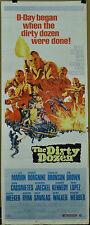 DIRTY DOZEN 1967 ORIGINAL 14X36 MOVIE POSTER LEE MARVIN CHARLES BRONSON