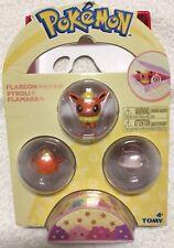 "Tomy Pokemon FLAREON PYROLI FLAMARA Mini Figurines 1"" Blister Pack"