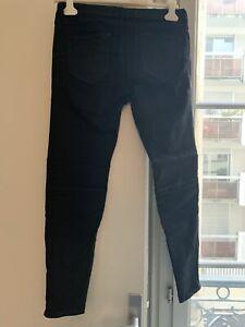 pantalon simili cuir femme Noir Zara Taille 40