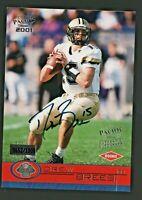 Drew Brees 2001 Pacific RC Rookie On Card Auto Autograph /1000 Saints Future HOF