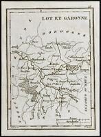 1830ca - Lot-et-Garonne - Carte ancienne du département. Gravure Tardieu