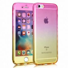 FULL étui tpu pour apple iphone 5 S SE de protection portable Rose Jaune 360