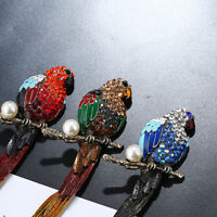 Alloy Cute Parrot Bird Animal Shape Pearl Brooch For Women Alloy Pin Accessories