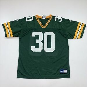 Vintage 90s Green Bay Packers Ahman Green #30 NFL Jersey Size Large