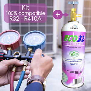 Kit Gaz compatible R 32 pour climatisation R410A, R32 réfrigérant, gaz R410A