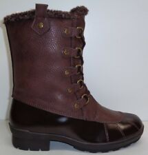 Aerosoles Size 7 M BARRICADE Brown Combo Memory Foam Boots New Womens Shoes